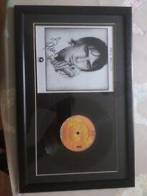 Paul Weller framed vinyl picture