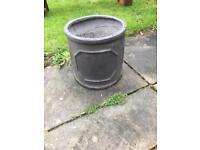 Small garden plant pot