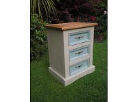 Corona Pine shabby chic bedside drawers