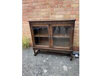 Wooden Cabinet with glazed doors