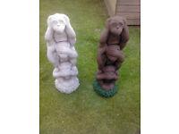 *SALE NOW ON* Hear no * see no * speak no evil monkeys £15