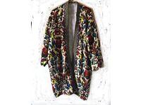 Long patterned jacket ladies size M