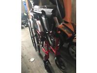 Self propelled aluminium wheelchair(never used)