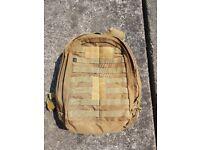 Military backpack desert £5