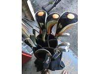 Palm Springs golf clubs and stand bag
