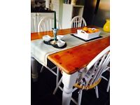 Kitchen table pine country kitchen table only comes with white legs heavy sturdy table
