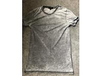 River island grey burnout tshirt xxs