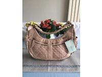 Nica Skin Colour Leather Handbag