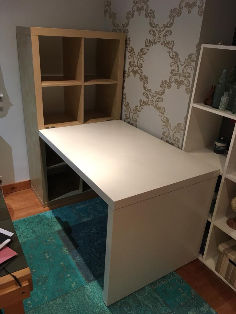 Large Ikea Desk With Shelving In Stirling Gumtree