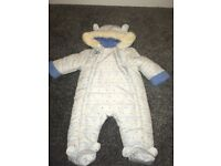 Lily and Jack boys snowsuit age 3-6 months