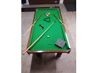 Superb 6ft slate bed pool table, cover, balls and cues etc
