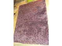 Purple Thick Pile Shaggy Rug 60 x 110 cm