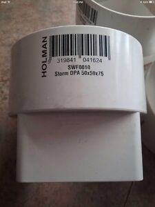 3 X PVC Pipe Fittings, 50x50x75   Brand New. Moonta Bay Copper Coast Preview