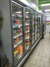 shop fitting fridge 3.75m with 6 doors and working vv good