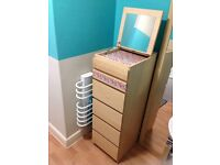 IKEA Malm tall unit for sale. Ideal for bedroom or bathroom storage drawers.