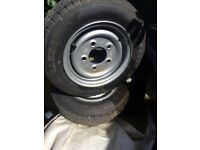 Trailer Wheel & Tyre 155/70x12 5 Stud x 112mm