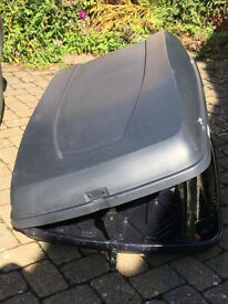 Halfords Car large roof box with fittings but not roof bars. Hardly used