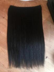 100% human hair extensions 22'