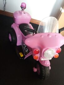 pink battery operated trike