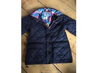 Joules girls coat age 6 ~ Navy Blue stable coat