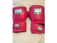BBE red boxing gloves brand new unopened ---