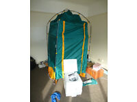 Barely used Proaction changing tent and unused campingaz Euro WC toilet