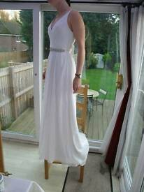 Light ivory wedding dress
