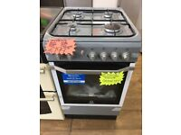INDESIT BRAND NEW 50CM ALL GAS COOKER IN SILIVER