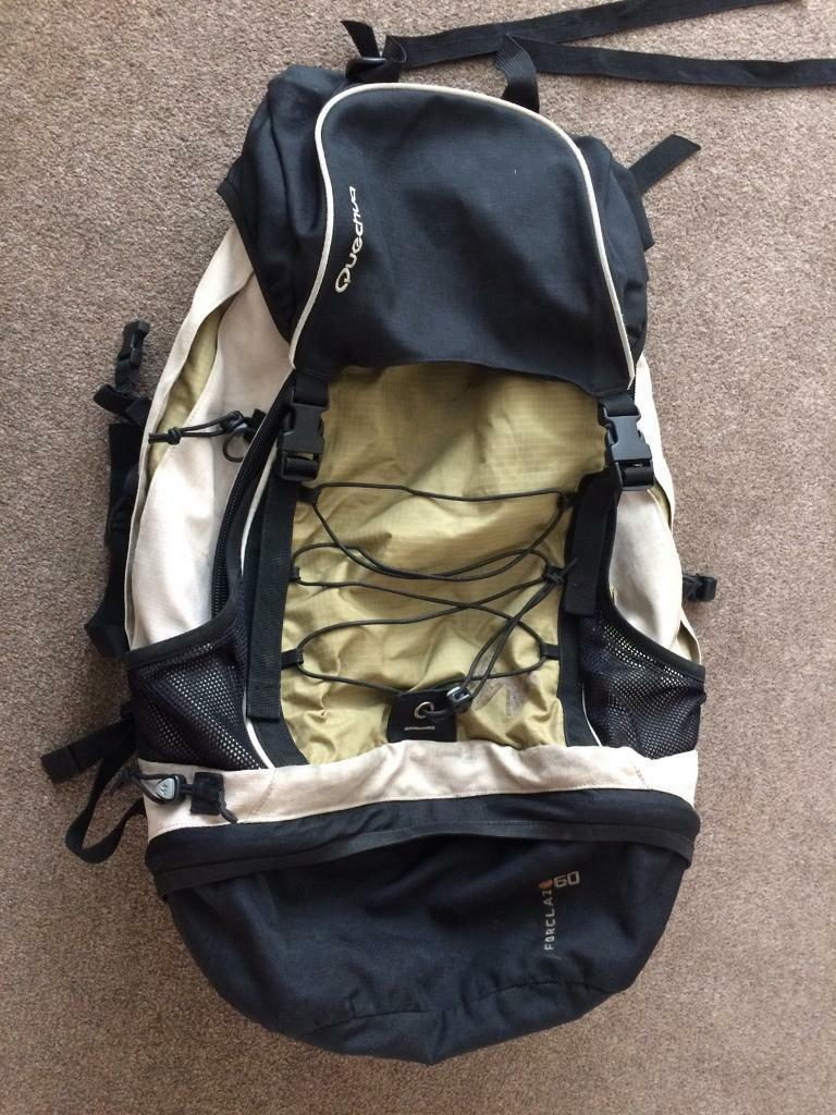 Quechua 60 L backpackin West Bridgford, NottinghamshireGumtree - Quechua Backpack 60 L Forclaz.In used condition but lot of wear left.Pick up only