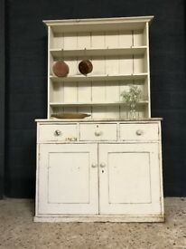 Victorian Antique Original Painted Country Farmhouse Dresser Sideboard