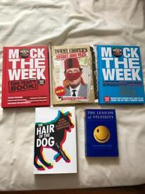 5 books comedy Tommy Cooper Mock the Week etc