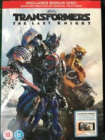 Latest Transformers - the Last Knight DVD