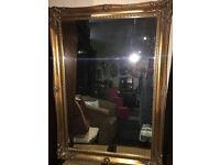 Stunning Large Heavy Antique Gilt Framed Bevelled Edge Over-mantle Mirror