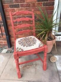Vintage upcycled chair