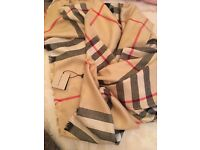 Burberry Scarf lightweight cotton scarf
