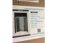 Aica Bathroom screen - shower screen - Brand New