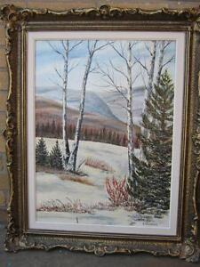 Original Painting - Winter Scene - by B. Friedrich