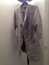 Stylish Black & White Coat - Size 10 - New Look