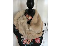 Ladies fur cowl scarf .New with tags