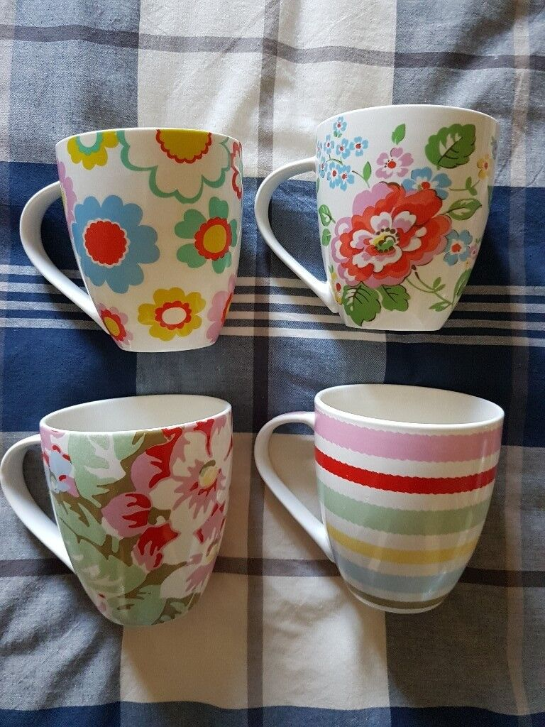 4 Cath Kidston Mugs Cups