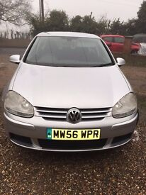 VOLKSWAGON GOLF MATCH SILVER 2007 PLATE IN GOOD CONDITION