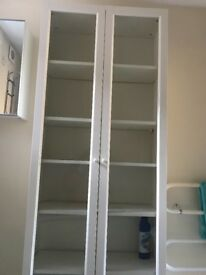 IKEA book case white with two door very good condition