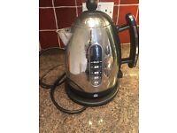 Dualit jug kettle stainless steel/black