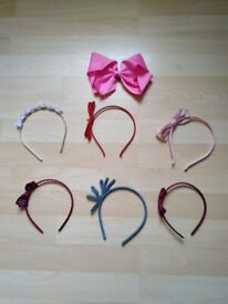 Girls Alice bands and bow