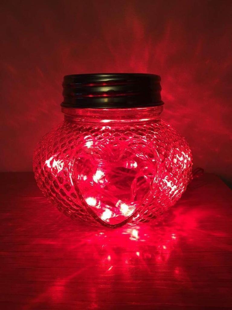Love heart jar