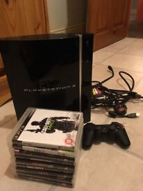 PlayStation 3 (80GB) perfect working order. One controller, games and HDMI cable included
