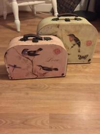 Vintage storage suitcases