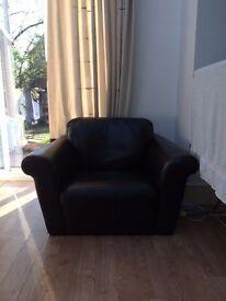 Cheap black sofa chair for sale - £5
