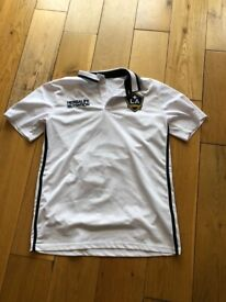 695445f2b94be2 Adidas LA Galaxy MLS USA White Training Polo Shirt Home Football Shirt Slim  Fit - Medium