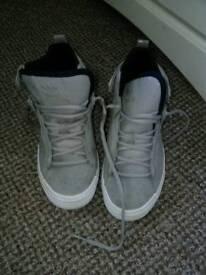 Adidas grey white navy high tops